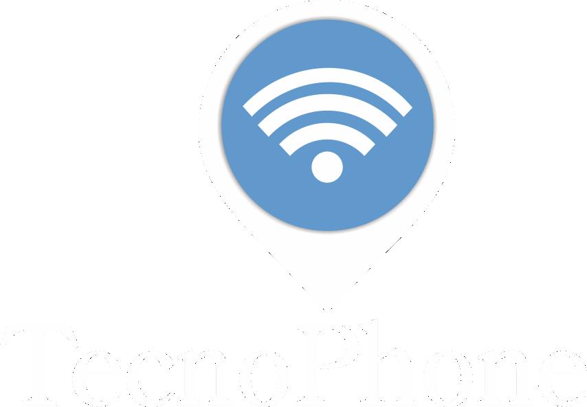 Logo Tecnophone - Blanco